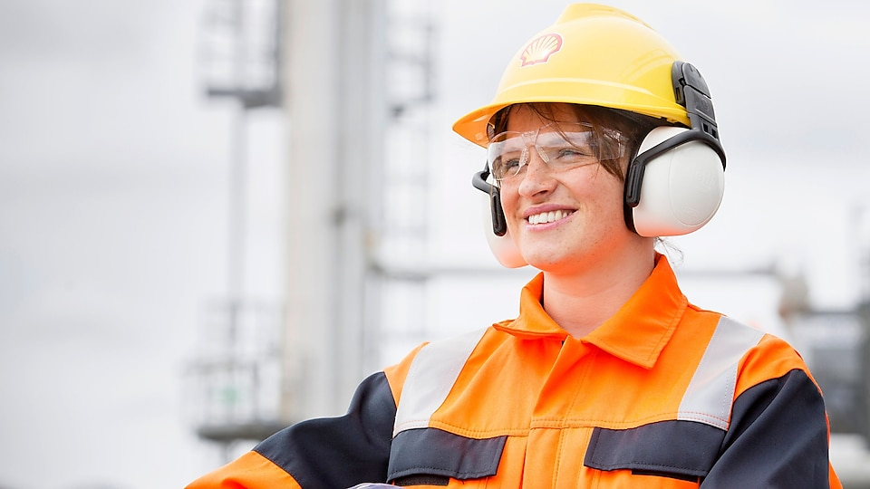 Shell employee smiling