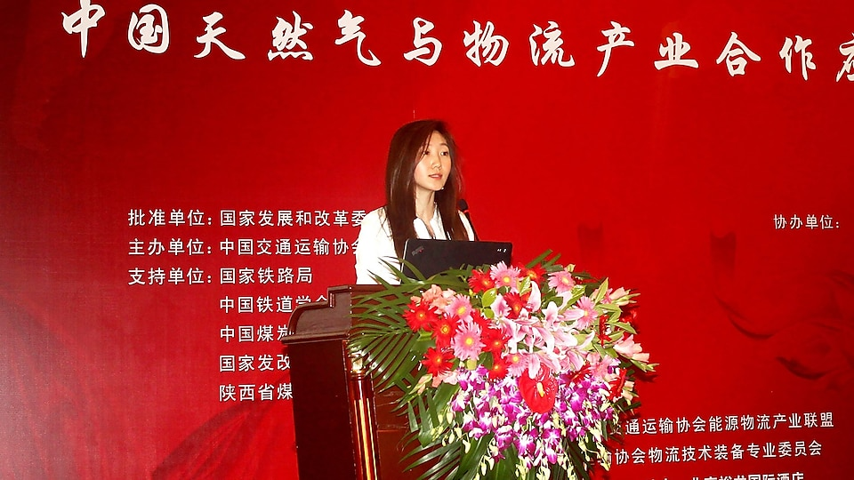 Christina present china energy logistics conference