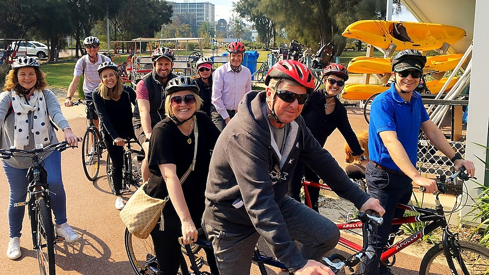 Perth team bike ride