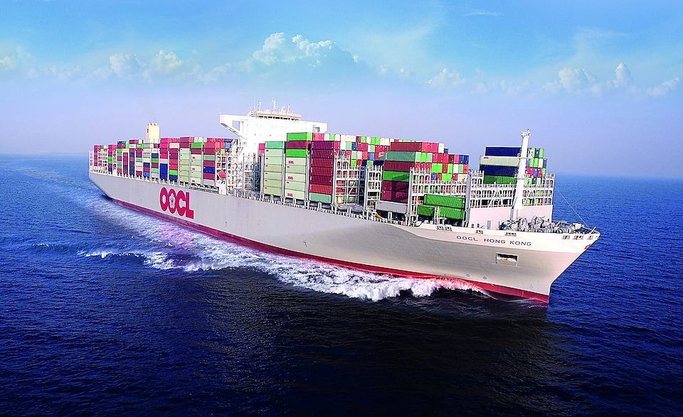 oocl Hong Kong - worlds largest container ship