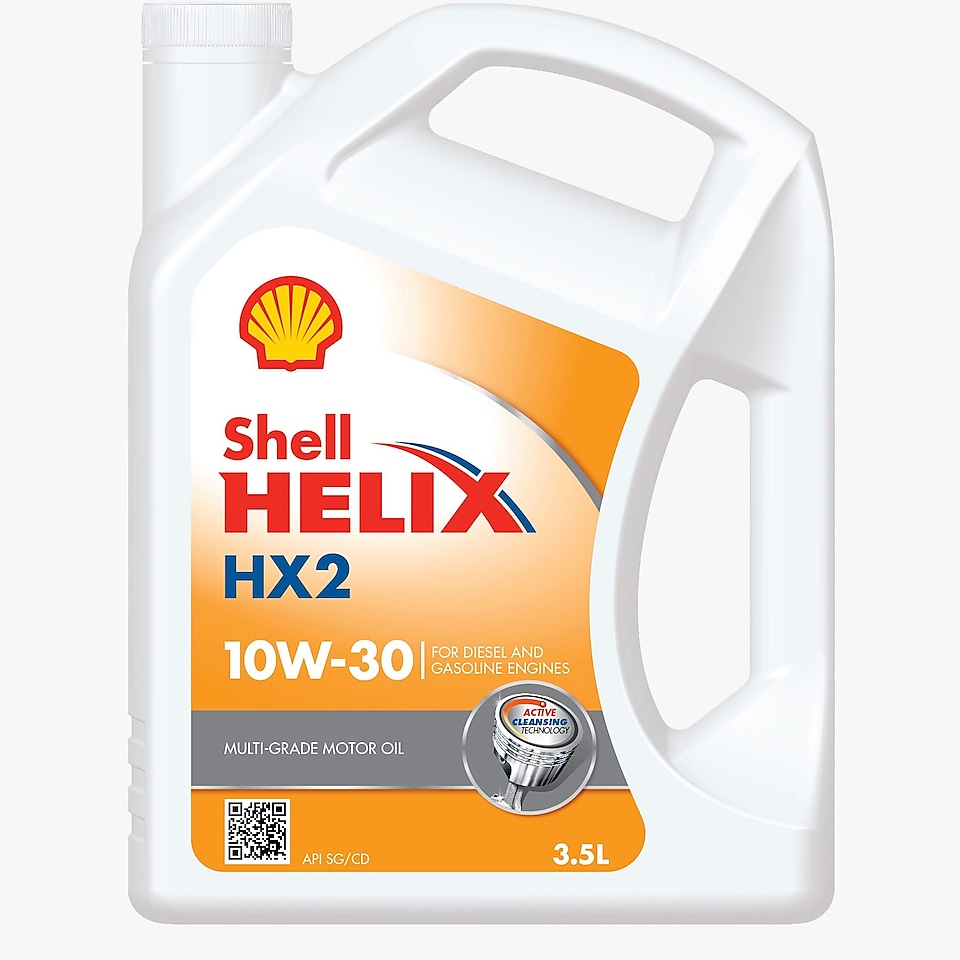 Packshot of Shell Helix HX2 10w-30
