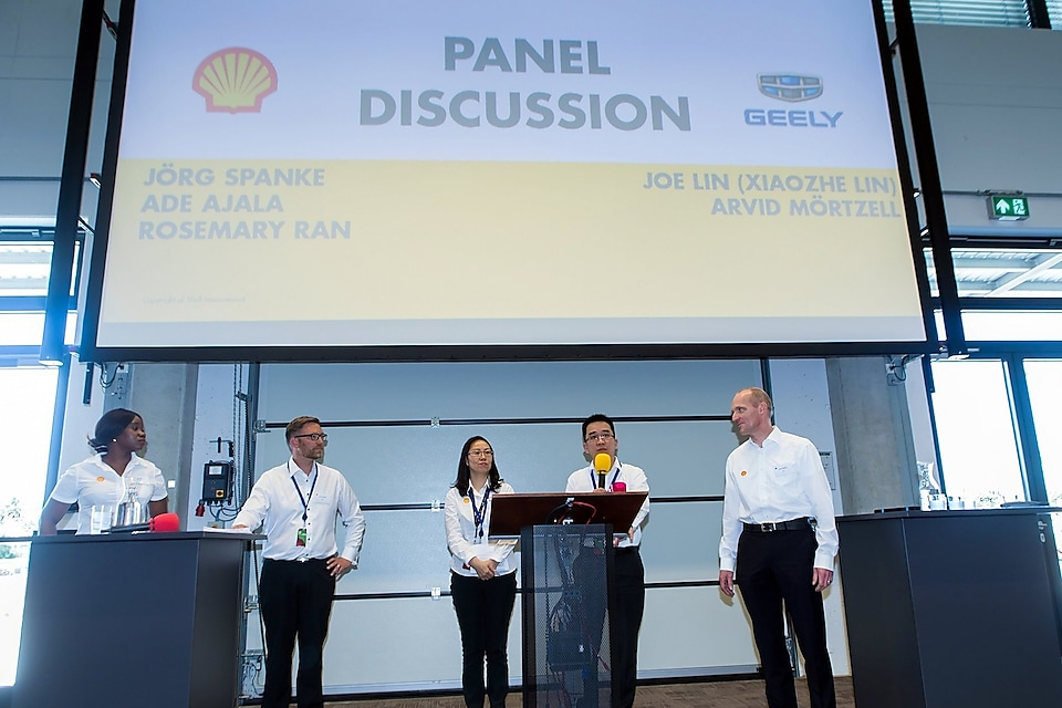 Scientists, engineers, and executives from Shell and Geely